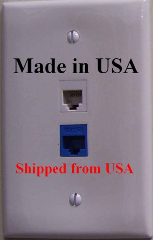 SecureGuard AC Powered Telephone / Ethernet Jack Nanny Cam Spy Camera *FAST SHIPPING*