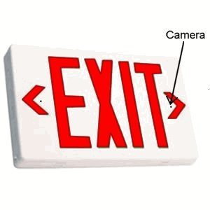SecureGuard AC Powered Exit Sign Spy camera