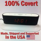 SecureGuard HD 720p Onn Alarm Clock Radio Spy Camera Covert Hidden Nanny Camera Spy Gadget