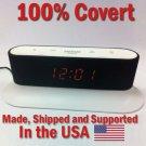 SecureGuard HD 720p Onn Alarm Clock Radio Spy Camera Covert Hidden Nanny Camera Spy Gadget