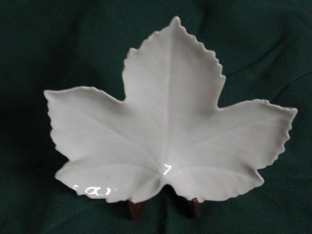 Limoges leaf dish