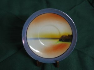 Scenery collectible saucer