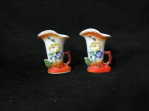 Occupied Japan Small Cornucopia Set