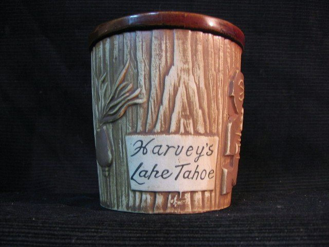 Harvey�s Lake Tahoe  ceramic jar