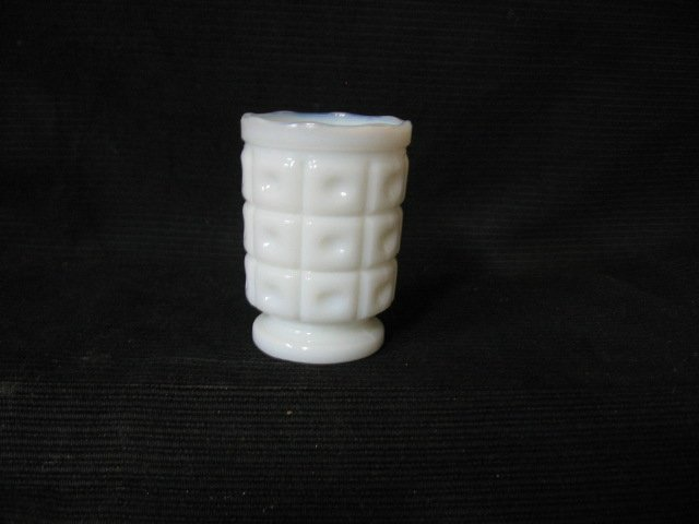 White Glass Toothpick Holder