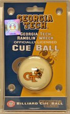 Georgia Tech Ramblin' Wreck - Collegiate  Cue Ball