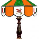 Miami 2 - Collegiate Licensed Stained Glass 14  Table Lamps