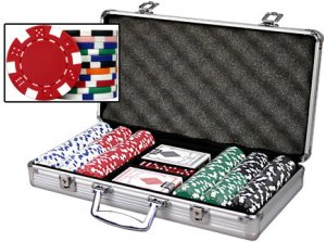 Dice Poker Chip Set , 300 11.5 gram Clay Composite Chips