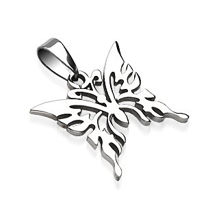 Stainless Steel Butterfly Cut-out Style Pendant (7289)