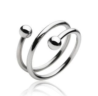 Stainless Steel Unisex Spiral Twist Style Ring Size 11 Thumb (10241)