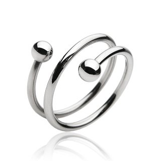 Stainless Steel Unisex Twist Style Ring Size 9 Thumb (10241)