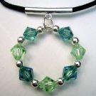 Summer Citrus Crystal Pendant Choker Necklace
