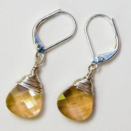 Luscious Caramel Swarovski Crystal Earrings