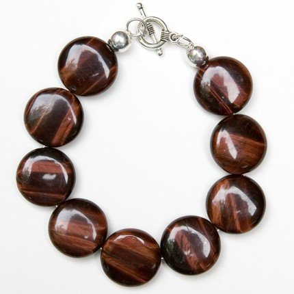 Survival Bracelet - Red Tiger's Eye Semi-Precious Stone