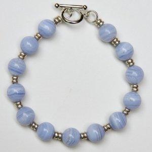 Tranquility Bracelet - Blue Lace Agate Semi-Precious Stone