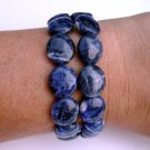 Sodalite Semi-Precious Stone Double Strand Bracelet