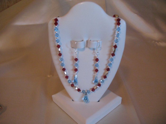 Crystal Necklace and earings