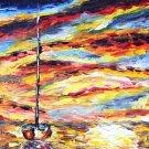 FOR SALE Rybakow  ORIGINAL OIL HAND PAINTING PALETTE KNIFE ART