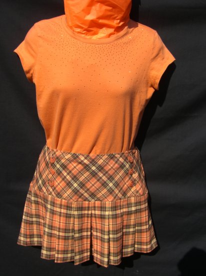 """Orange """"schoolgirl"""" outfit"""