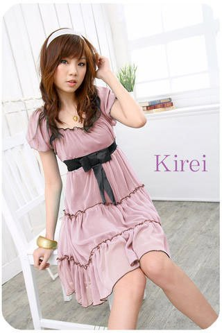 Rare Pink Babydoll Chiffon Dress--SOLD OUT