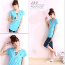 Hot item~Lovely Comfy cotton top #8902 Blue