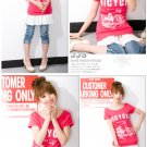 Bicycle Lovely cotton top #8840 Red