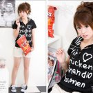 Lovely cotton top #1403 Black