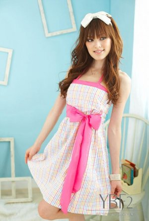 sexy cotton dress #1488 Pink