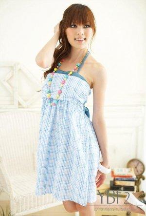 sexy cotton dress #1488 Blue
