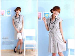 OL's favourite cotton dress #8894 Grey