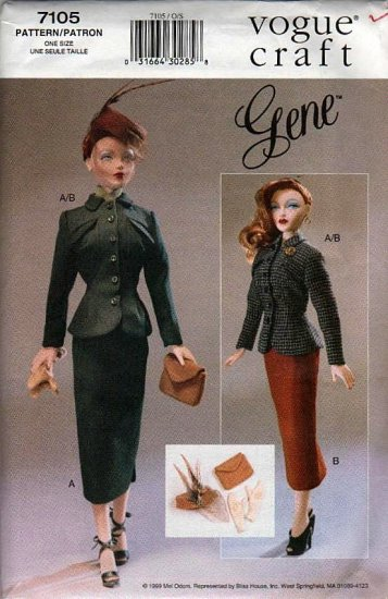 Gene 40's Smart Suit Fashion Vogue 7105