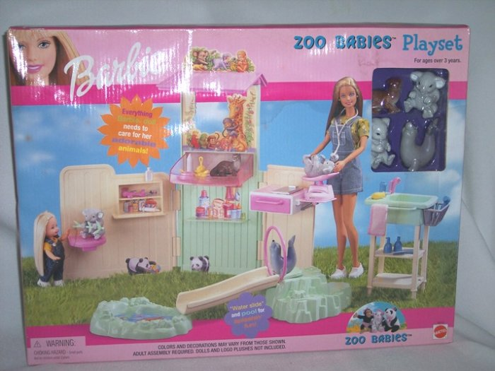 Barbie Zoo Babies toy Playset New 2000 NRFB