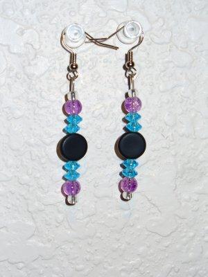 Earring - Purple/Blue/Black