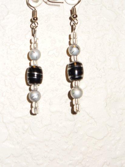 Earring Black/Silver