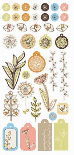 SEI Dill Blossom Puff Stickers
