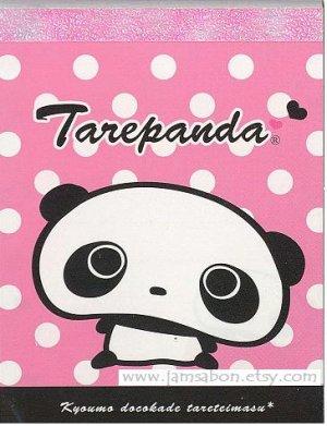 San-X Tarepanda 100 sheets Small Memo Pad White Polka Dot