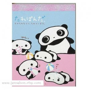 Kawaii San X Tarepanda 100 sheets Memo Pad Blue/Pink