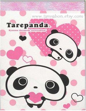 San X Tarepanda 100 sheets Memo Pad Pink Polka Dot
