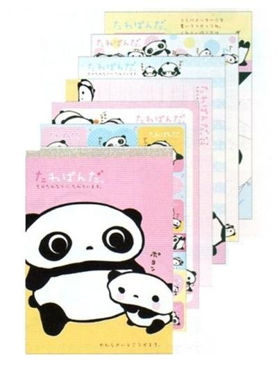 San X Tarepanda 100 sheets Memo Pad with Stickers - Yellow/Pink