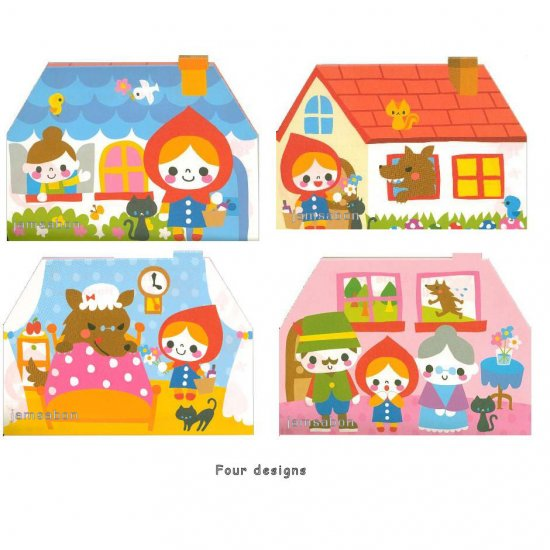 Kamio Little Red Ridding Hood Chan Memo Pad --- 120 sheets