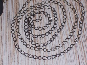 10 feet of Antiqued Cable Brass Chain