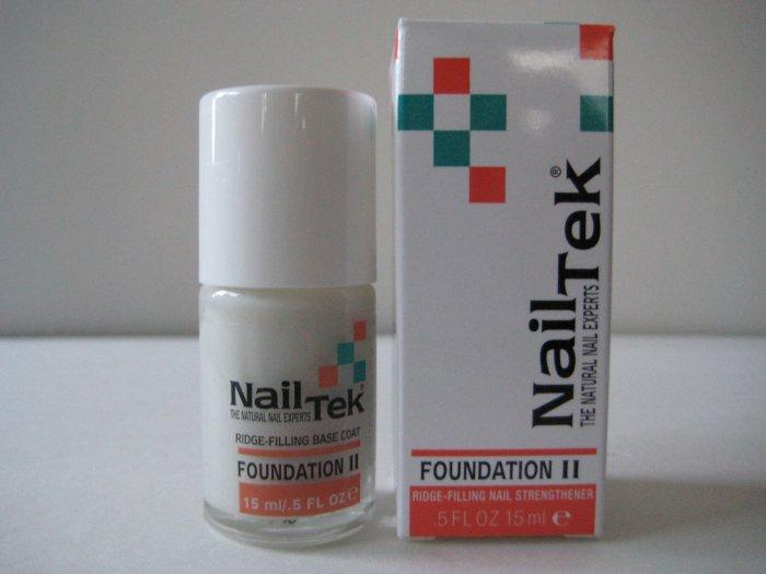 Nail Tek Foundation II Ridge-Filling Nail Strengthener 15ml/0.5oz [GREAT BASE COAT/STRENGTHENER]
