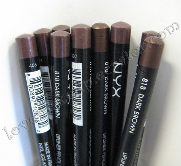 NYX Slim Pencil LIP LINER 818 DARK BROWN