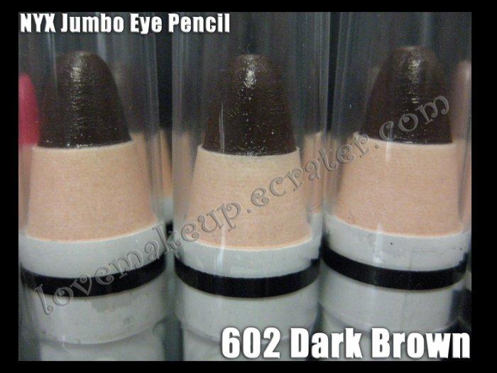 NYX Jumbo Eye EYESHADOW PENCIL 602 * DARK BROWN *