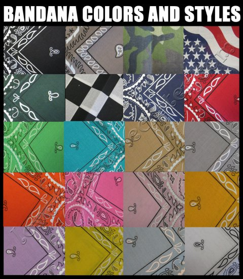 BANDANA *LOTS OF COLORS TO CHOOSE FROM*