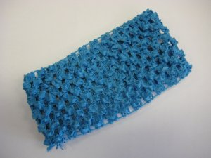 CROCHET HEADBAND *TURQUOISE* Stretchy Thick
