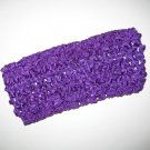 CROCHET HEADBAND *PURPLE* Stretchy Thick