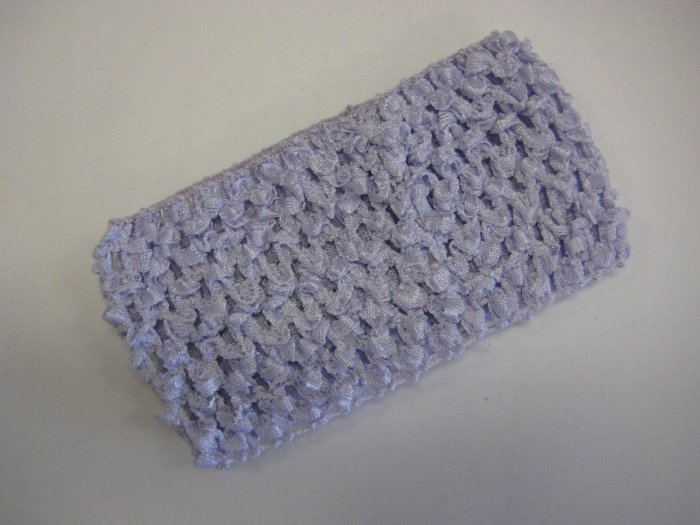 CROCHET HEADBAND *LAVENDER*LIGHT PURPLE* Stretchy Thick