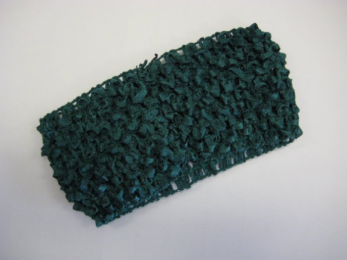 CROCHET HEADBAND *GREEN* Stretchy Thick