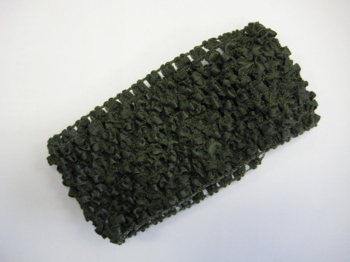 CROCHET HEADBAND *DEEP OLIVE GREEN* Stretchy Thick